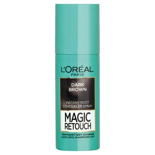 L'Oréal Paris Magic Retouch Sötétbarna azonnali hajtőszínező spray 75 ml