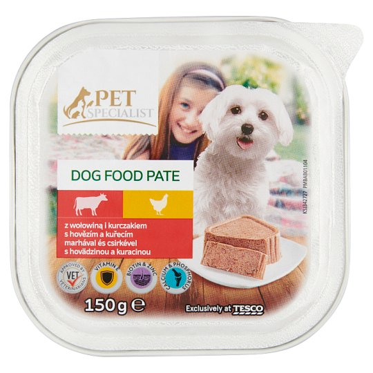 Tesco Pet Specialist Complete Dog Food Pate with Beef and Chicken 150 g