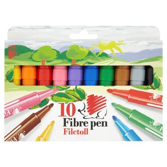 ICO Süni Fibre Pen 10 pcs Set