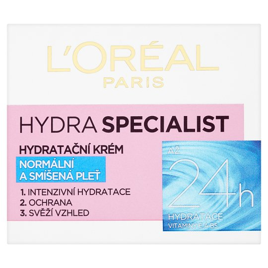 image 1 of L'Oréal Paris Hydra Specialist Moisturizing Cream for Normal and Mixed Skin 50 ml