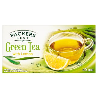 Packers Best Filtered Green Tea with Lemon 40 Tea Bags 70 g