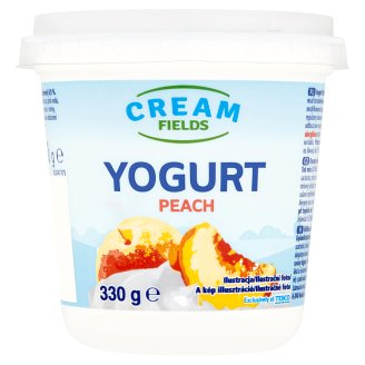 Cream Fields Low-Fat Peach Flavoured Yoghurt with Live Cultures 330 g