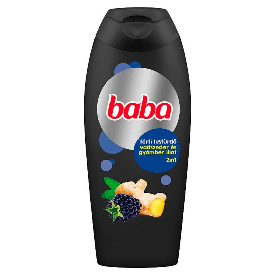 Baba 2in1 Shower Gel & Shampoo for Men with Wild Berry and Ginger 400 ml