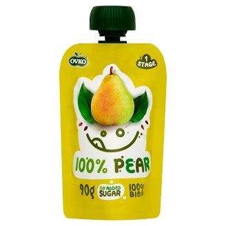 Ovko Organic 100% Pear Baby Dessert 6+ Months 90 g