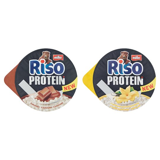 Müller Riso Protein+ Chocolate Flavoured Rice Pudding Dessert 200 g