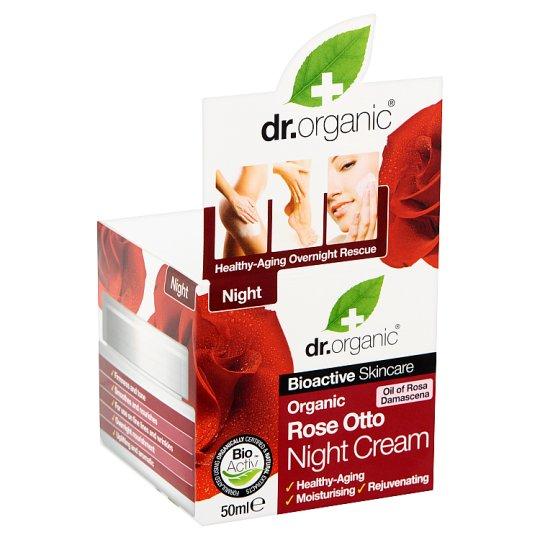 Dr. Organic Bioactive Skincare éjszakai arckrém BIO damaszkuszi rózsaolajjal 50 ml