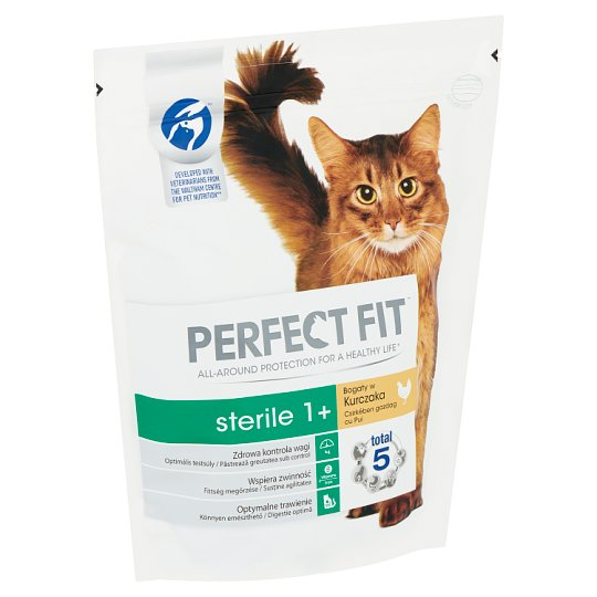 Perfect Fit Sterile 1+ csirkében gazdag teljes értékű állateledel felnőtt macskák számára 750 g