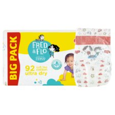 image 2 of Fred & Flo Ultra Dry 4+ Maxi 9-16 kg Nappies 92 pcs