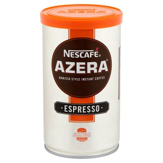 Nescafé Azera Espresso azonnal oldódó kávé, őrölt pörkölt kávéval 100 g