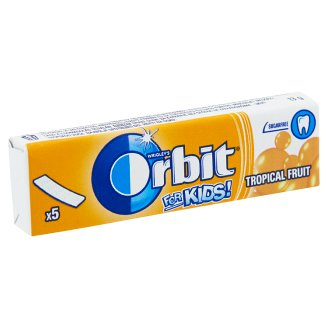 Orbit for Kids! Tropical Fruit Flavoured Sugar-Free Chewing Gums with Sweetener 5 pcs 13 g