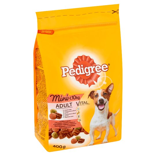 Pedigree Vital Protection Complete Pet Food for Small Adult Dogs with Beef and Vegetables 400 g