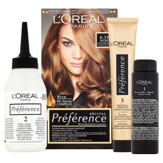 image 2 of L'Oréal Paris Préférence 6.35/A3 Light Chestnut Premium Ultra-Resistant Colorant