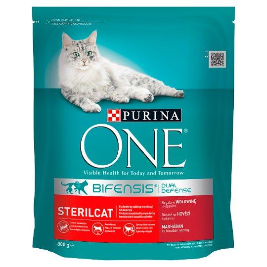 Purina One Sterilcat Complete Pet Food for Adult Cats Rich in Beef and Wheat 800 g