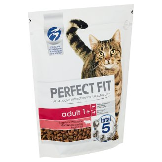 Perfect Fit Adult 1+ Complete Pet Food for Adult Cats Rich in Beef 750 g
