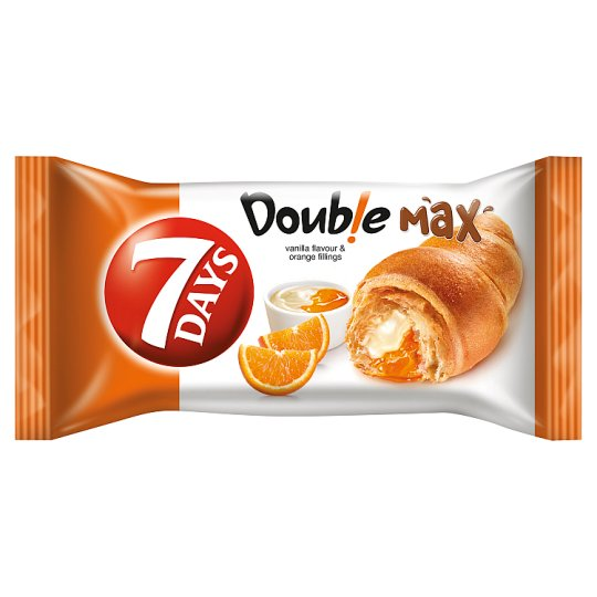 7DAYS Doub!e Max Croissant with Vanilla Flavour and Orange Fillings 80 g