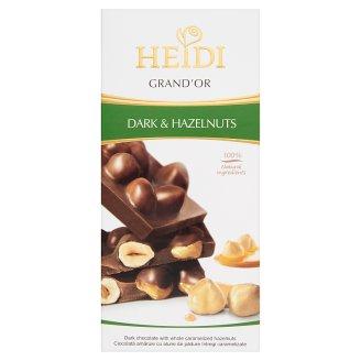 Heidi Grand'Or Dark Chocolate with Whole Caramelized Hazelnuts 100 g