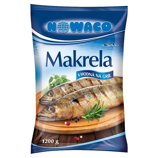 Nowaco Deep-Frozen Gutted Whole Mackerel 1200 g