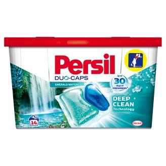 Persil Duo-Caps Emerald Waterfall mosószer koncentrátum fehér és világos ruhákhoz 14 mosás 350 g