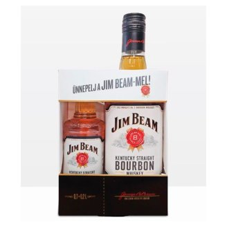 Jim Beam Bourbon whiskey 40% 0,7 l + 0,2 l