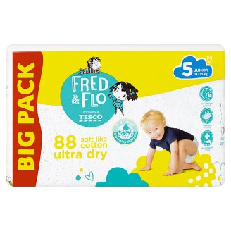 image 1 of Tesco Fred & Flo Ultra Dry 5 Junior 11-18 kg Nappies 88 pcs