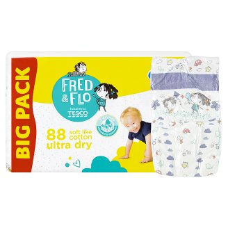 image 2 of Tesco Fred & Flo Ultra Dry 5 Junior 11-18 kg Nappies 88 pcs