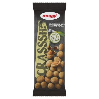 Mogyi Crasssh! Roasted Peanuts with Onion and Sour Cream Flavoured Crispy Coating 60 g