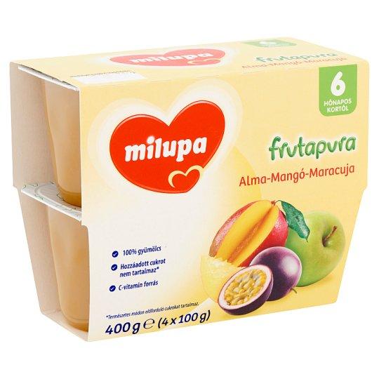 Milupa Frutapura Apple-Mango-Maracuja Fruit Puree 6+ Months 4 pcs 400 g