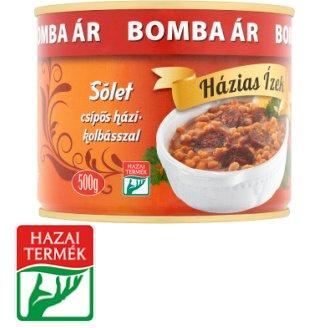 Házias Ízek Cholent with Hot Sausage 500 g