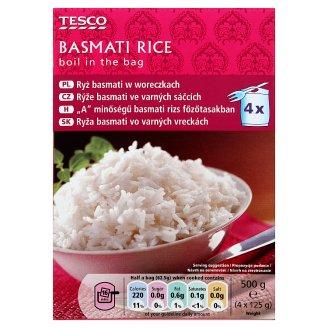 Tesco Boil in the Bag Basmati Rice 4 x 125 g