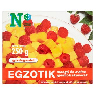 Egzotik Quick-Frozen Mango and Raspberry Fruit Mix 250 g