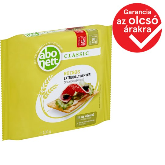 Abonett Classic rozsos extrudált kenyér 100 g
