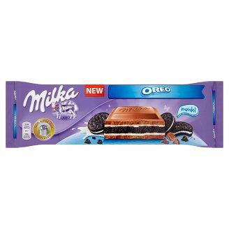 Milka Oreo Alpine Milk Chocolate with Vanilla Flavoured Cream and Chocolate Biscuits 300 g