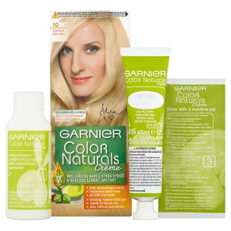 image 2 of Garnier Color Naturals Crème 10 Extra Blonde Nourishing Permanent Hair Colorant