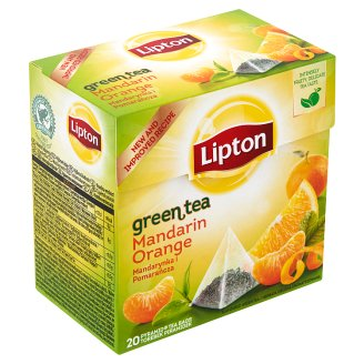 Lipton Mandarin-Orange Green Tea 20 Pyramid Tea Bags
