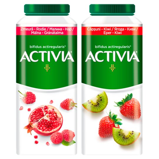 Danone Activia Low-Fat Strawberry-Kiwi Flavoured Yoghurt Drink with Live Culture 320 g