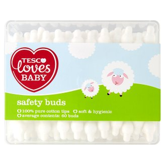 Tesco Loves Baby Safety Buds 60 buds