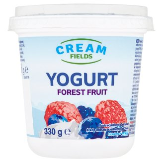 Cream Fields Low-Fat Forest Fruits Flavoured Yoghurt with Live Cultures 330 g