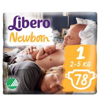 Libero Newborn 1 2-5 kg Premium Nappies 78 pcs