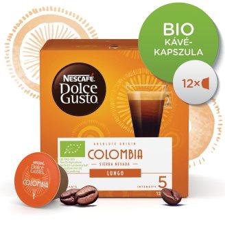 Nescafé Dolce Gusto Colombia Sierra Nevada Lungo őrölt pörkölt kávé 12 db 84 g