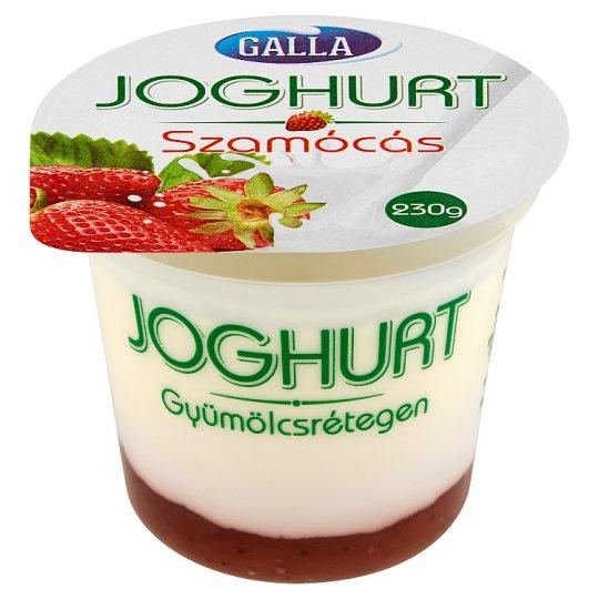 Galla Yoghurt on Strawberry Fruit Layer 230 g