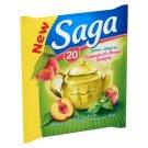 Saga Peach Green Tea 20 Tea Bags
