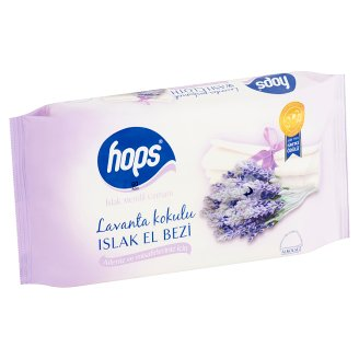 Hops Wet Wipes with Lavender Scent 60 pcs