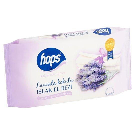 Hops Wet Wipes with Lavender Scent 60 pcs