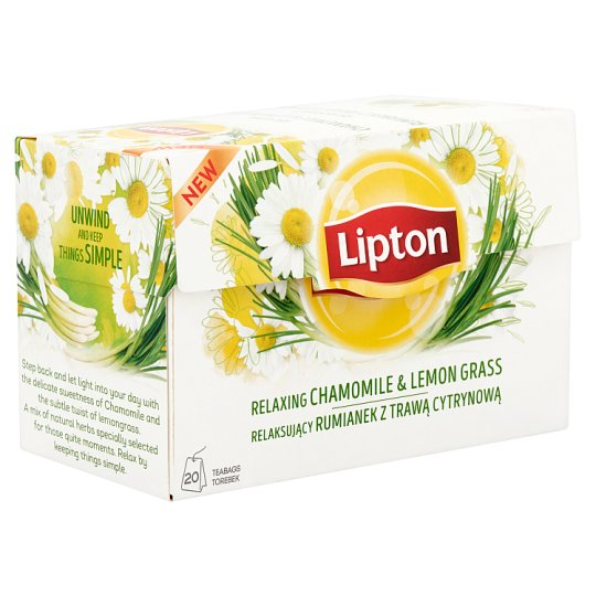 Lipton Relaxing Chamomile & Lemon Grass Tea 20 Tea Bags