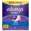 Always Dailies Extra Protect Panty Liners Large Fresh 62 X