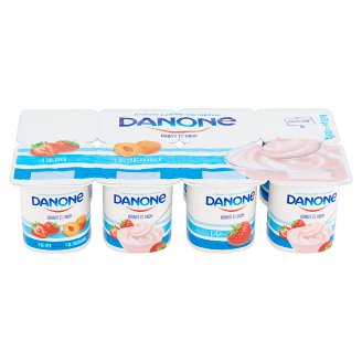 Danone Könnyű és Finom Peach and Strawberry Flavoured Yoghurt 8 x 125 g