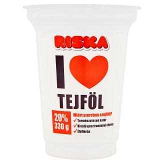 Riska I Love élőflórás tejföl 20% 330g