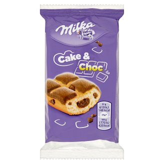 Milka Cake & Choc Sponge Cake with Alpine Milk Chocolate Pieces and Chocolate Filling 35 g