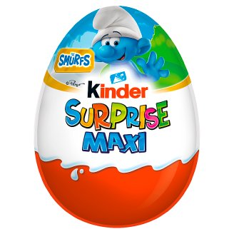 Kinder Surprise Maxi Fine Milk Chocolate Shell with Milky White Lining Containing Toy 100 g