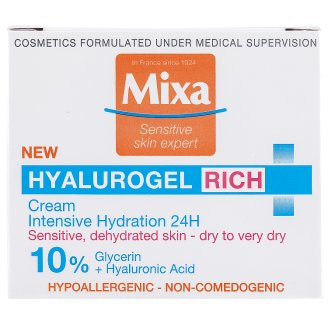 image 1 of Mixa Hyalurogel Rich Intensive Hydrating Cream 50 ml